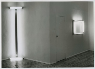 <p><em>Dan Flavin: Early Works</em>, installation view, May 1988</p>