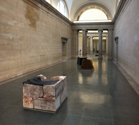 Installation view, Duveen Galleries, Tate Britain, 2013: 'Harbour', 1994/96 (foreground) and 'Assembly', 1991. Photo: FXP, London. © Alison Wilding 2014. All rights reserved.